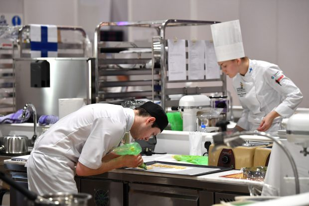 two young apprentice chefs
